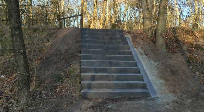 Nieuwe trap 't Soester Hoogt