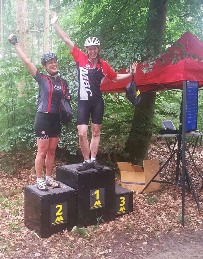 Marjon Kappé 1e plek 100km RWP MB-Cyclo 2016